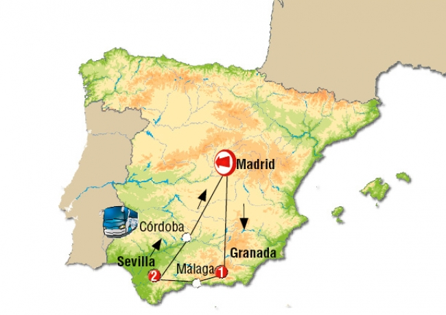 Andalucía, España · 04 Días · Octubre 2018 ·  Recorrido por los maravillosos destinos de España en un solo viaje.