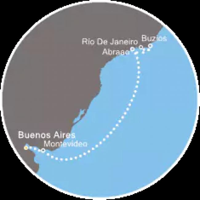 Costa Cruceros Fascinosa: Salida 24/ 02/ 2019  · 7 días ·  Buenos Aires  – Montevideo – Navegación –  Arbaao – Buzios – Río de Janeiro