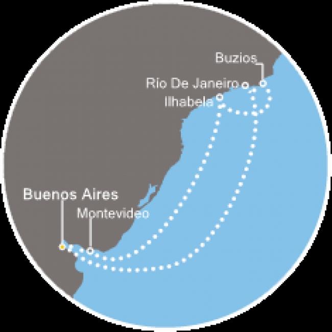 Costa Cruceros Fascinosa: Salida 27/ 12/ 2018 AÑO NUEVO · 10 días ·Buenos Aires – Río de Janeiro – Buzios – Ilhabela – Montevideo