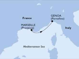 1 Noche por Francia, Italia a bordo del MSC Seaview