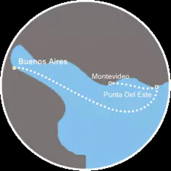 Costa Cruceros Fascinosa: Salida 21 y 24 de Diciembre de 2018 · 3 días · Buenos Aires – Punta del Este – Montevideo