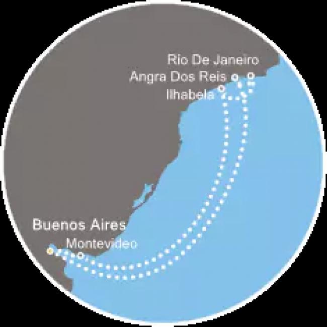 Costa Cruceros Fascinosa: Salidas 5, 13, 21 y 29 de Enero de 2019 · 8 días · Buenos Aires – Angra dos Reis – Río de Janeiro – Ilhabela – Montevideo