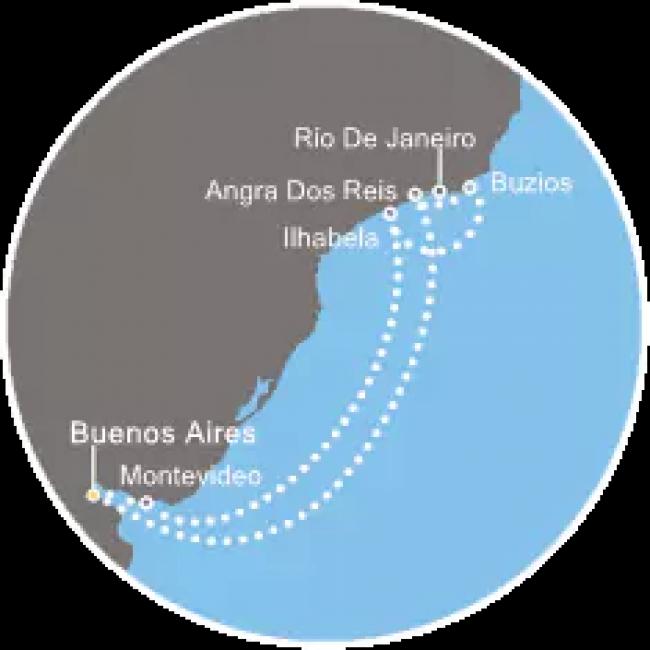 Costa Cruceros Fascinosa: Salidas 6 y 15 de Febrero de 2019 · 9 días ·  Buenos Aires – Abraao – Río de Janeiro – Ilhabela – Montevideo