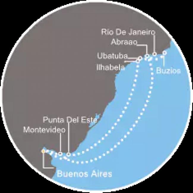 Costa Cruceros Fascinosa: Salida 24/ 02/ 2019 · 14 días · Buenos Aires – Abraao – Buzios – Río de Janeiro – Ubatuba –  Ilhabela – Punta del Este