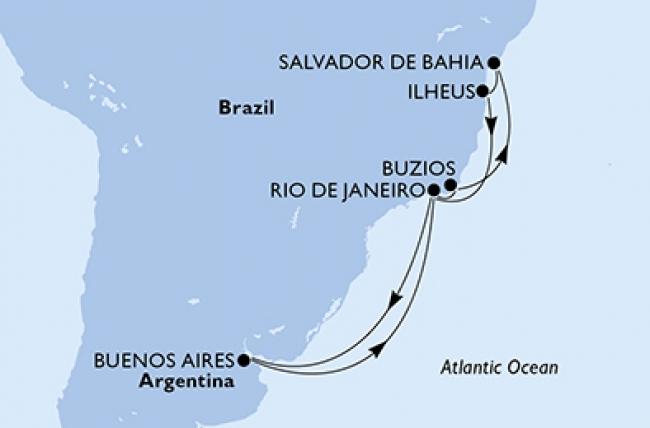 MSC Fantasía · Salida 11 de Diciembre desde Buenos Aires 2019 · 12 Noches