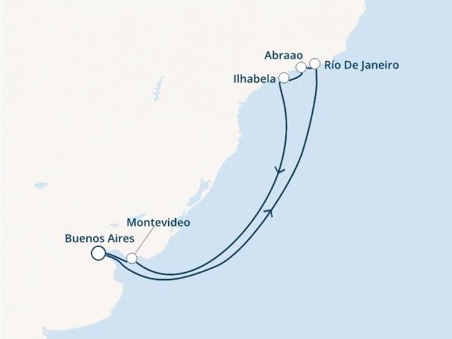 Costa Cruceros Pacifica: Salida 04 de Diciembre de 2019 · 9 días · Buenos Aires - Montevideo - Ilhabela - Abraao - Río de Janeiro