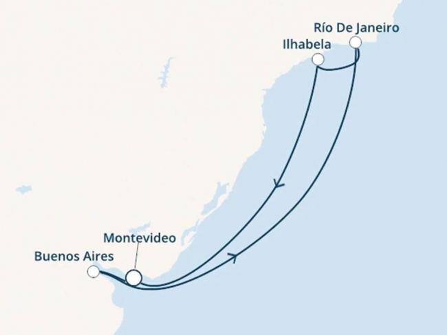Costa Cruceros Pacífica: Salida 27 de Diciembre de 2019 · ESPECIAL AÑO NUEVO · 9 días · Buenos Aires – Montevideo - Ilhabela - Río de Janeiro