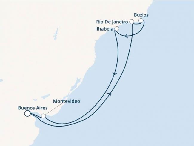 Costa Cruceros Pacífica: Salida 12 de Enero de 2020 · 8 días · Buenos Aires – Montevideo - Ilhabela - Río de Janeiro - Buzios