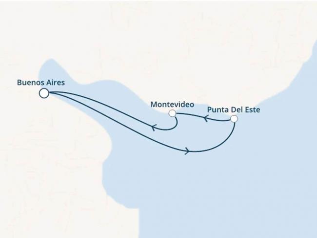 Costa Cruceros Pacífica: Salida 20/ 12/ 2019 · 4 días · Buenos Aires - Montevideo - Punta del Este - Buenos Aires