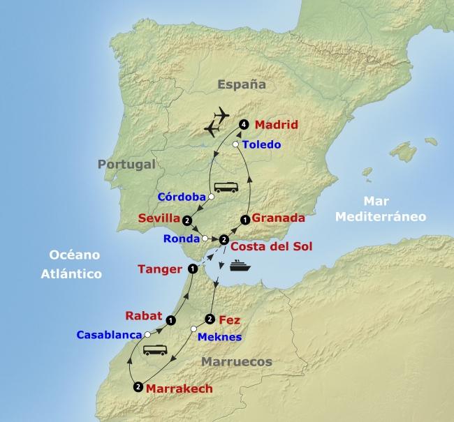 Salida Grupal 2018: Andalucía y Marruecos junto con Madrid